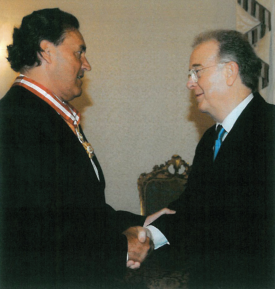 Chairman, Álvaro dos Santos Silva and President of the Republic, Jorge Sampaio